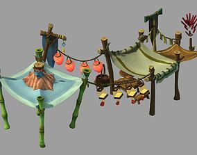 Dynasty City - roadside booth 3D model