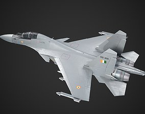 3D model India Air Force Su-30MKI Su30MKI Fighter Bomber 2