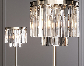 3D RH 1920S ODEON CLEAR GLASS TABLE LAMP 2-TIER