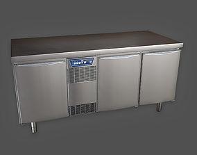 3D asset Industrial Fridge Counter KTC - PBR Game Ready