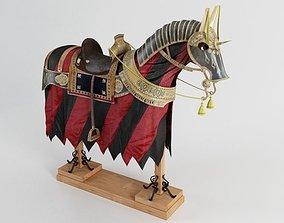 Horse Armor 02 military 3D model