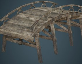 3D asset Plank Bridge 1B