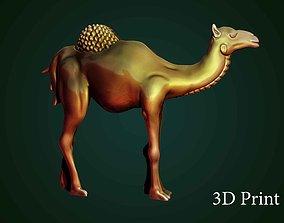 camel bas-relief 3D printable model