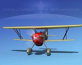 3D model Curtiss P-6E Hawk V06