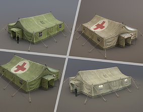 Military Tent 01 FourLiveries 3D model