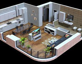 3D model Low poly Interior