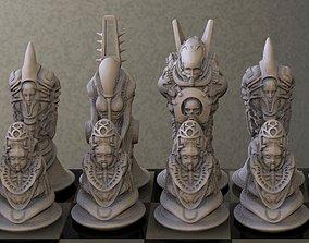 Biomechanic Chess Set 3D print model