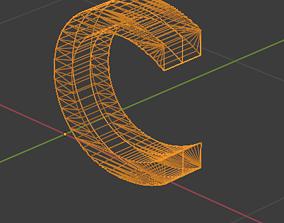 C letter 3D model
