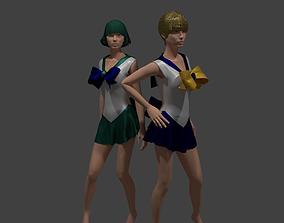 3D Sailor Uranus and Neptune
