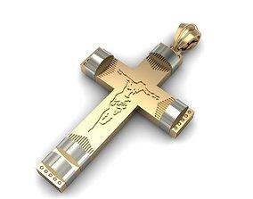 3D printable model pendant cross jesus christmas