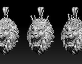 3D print model lion pendants pack