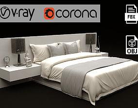 3D Modern Bed 01