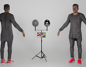 3D asset African-american man in casual ready for 1