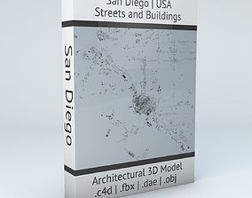 3D model San Diego Downtown Streets and