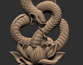 Snake pendent 3d stl models for artcam and aspire