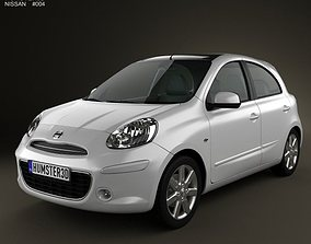 3D Nissan Micra March 2011