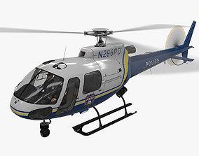 3D asset AS-350 Philadelphia Police Animated