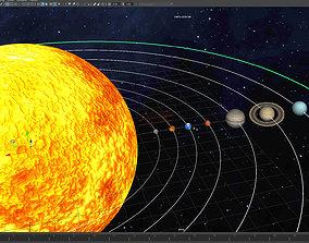 earth 3D model SOLAR SYSTEM
