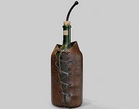 3D asset Leather Bottle Case - rc