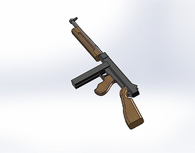 Thompson machine gun 3D model realtime