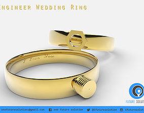 Engineer Wedding Ring 3D print model