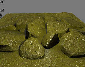 3D asset floor rocks 04