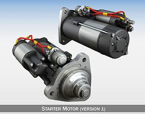 Starter motor 3D