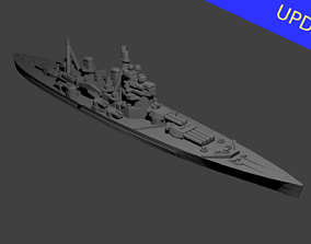British King George V Class Battleship 3D print model