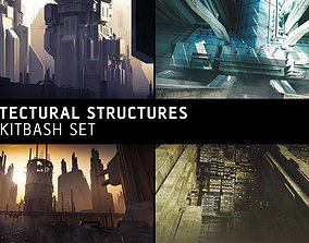3D Architectural Structures Kitbash Set other