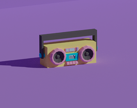 LOW POLY ASSET BOOMBOX MODEL - LOWPOLYGONAL game-ready