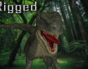 3D asset Rigged Raptor