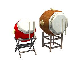Drums 3D asset