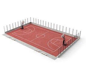 Full Basketball Court 3D