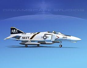 McDonnell Douglas F-4J Phantom II V07 USN 3D model