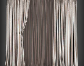 Curtain 3D model 200 game-ready