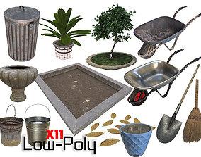 3D model gardening tools - Game Ready - VR AR