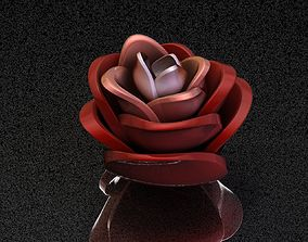 Rose Ring jewelry 3D print model