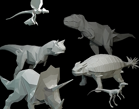 3D model Low-Poly Dinosaurs enemy