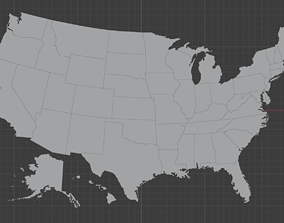 Geography - US States 3D asset
