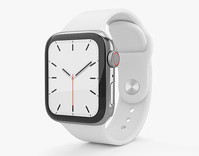 3D Apple Watch Series 5 40mm Stainless Steel Case with 1