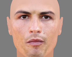 3D model low-poly Cristiano Ronaldo