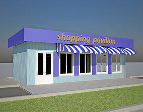 trade pavilion with awning 3D