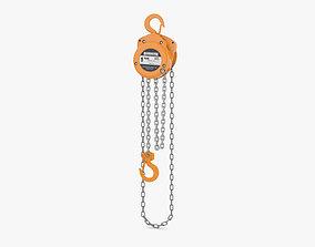 3D model Hand Chain Hoist