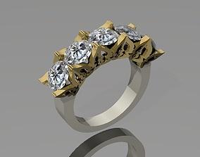 3D print model gold Wedding Ring