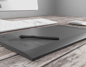 3D Wacom Intuos Tablet and Stylus
