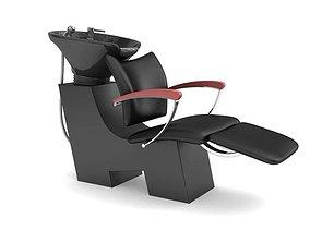 3D Comfortable Black Beauty Parlor Chair