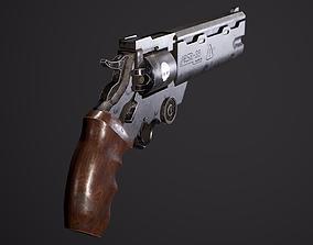 Trigun Revolver Gameready 3D model