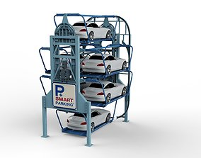 Rotary Parking System SM6L 3D model