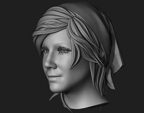 Female Head Sculpt 09 3D