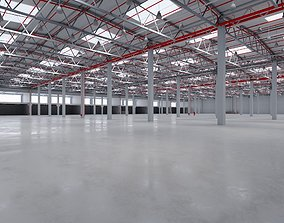 3D model Industrial Warehouse Interior 8
